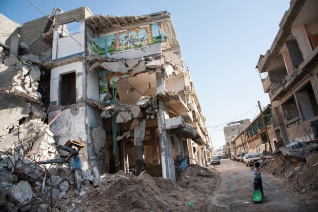 War damage in Gaza