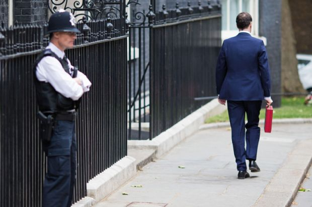 George Osborne outside 11 Downing Street, London, Budget Day, 2015