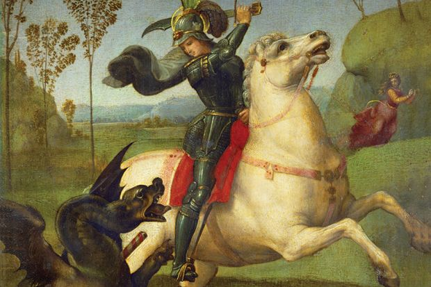 George slays the Dragon