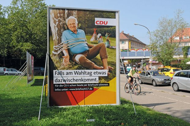 Election billboard for CDU party in Germany