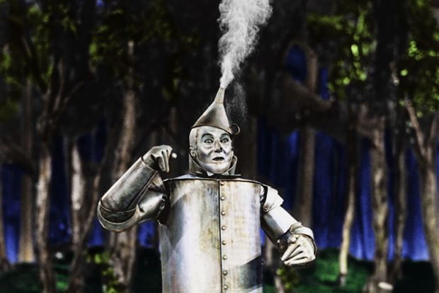 American actor Jack Haley as Hickory/The Tin Man in 'The Wizard of Oz', 1939