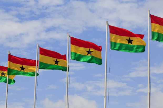 Ghana flags, THE Africa Universities Summit 2016