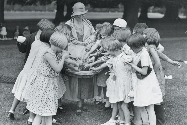 Girls grabbing food