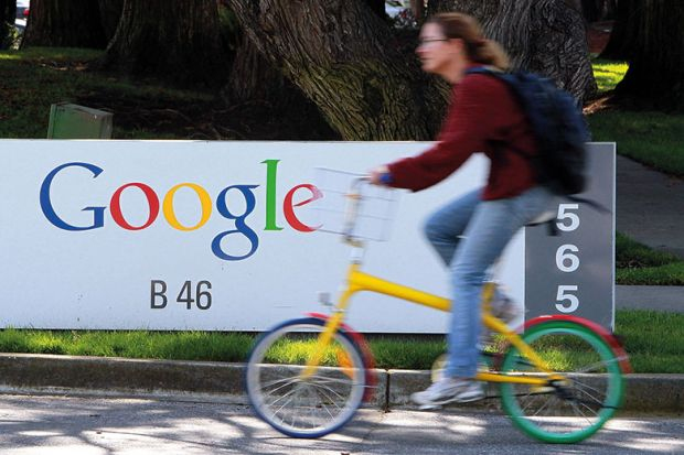 google-sign-cyclist