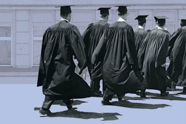 Graduates in academic gown