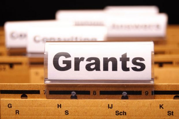 Grant Winners tab on folder