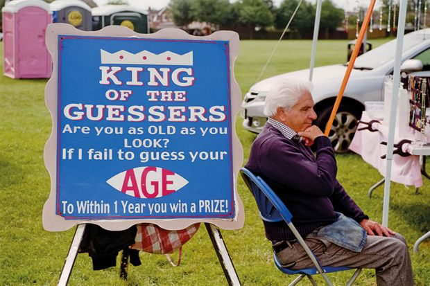 Age guessing expert at a UK carnival