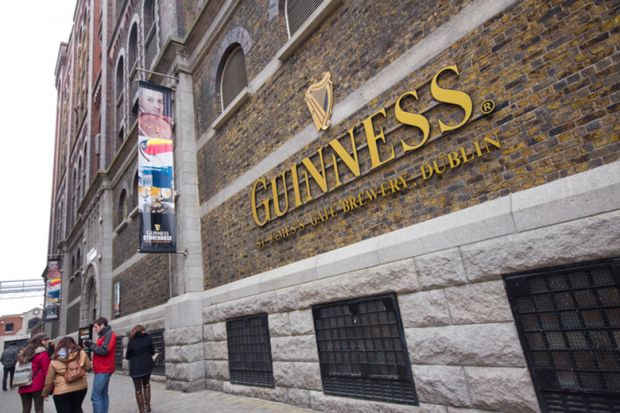 Guinness factory in Dublin