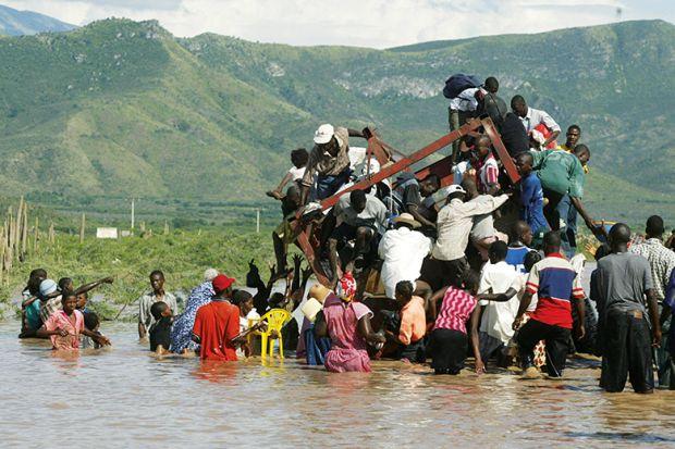 aftermath of Haiti flood