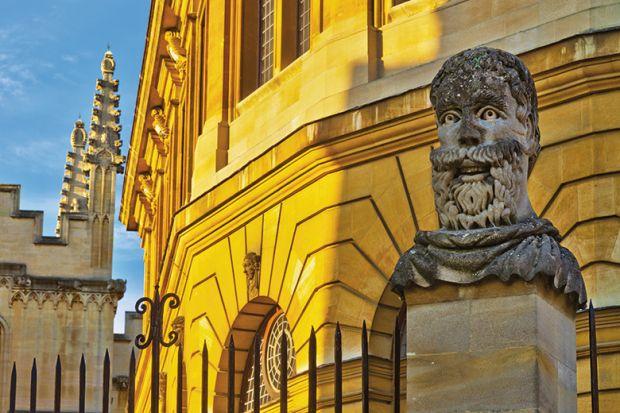 Happy statue Oxford