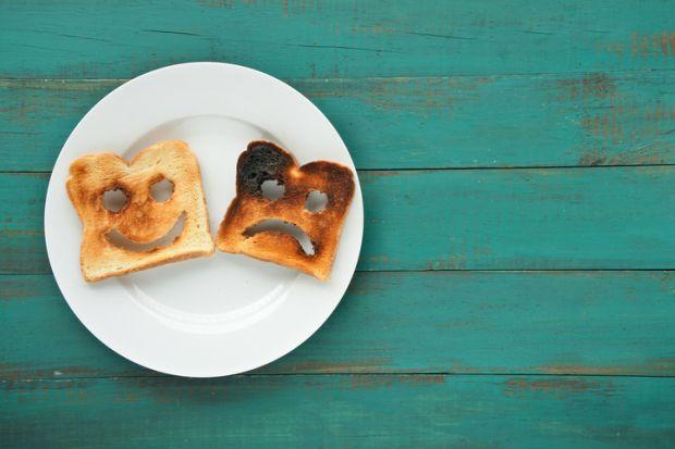 Happy and sad toast