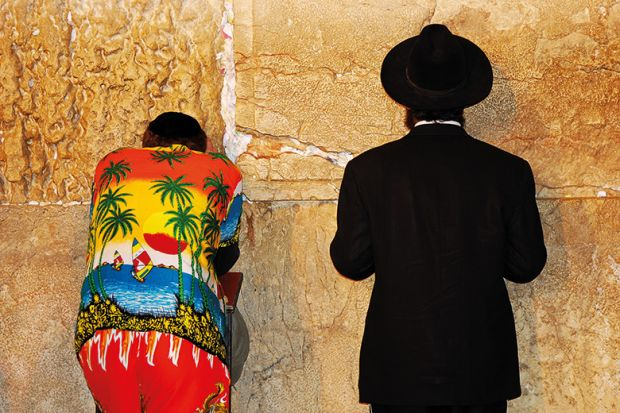 Hawaiian shirt at the Wailing Wall