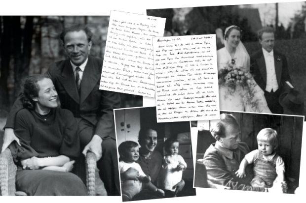 Werner Heisenberg, his wife, Elisabeth, and their children