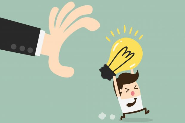 Illustration showing someone grabbing an idea