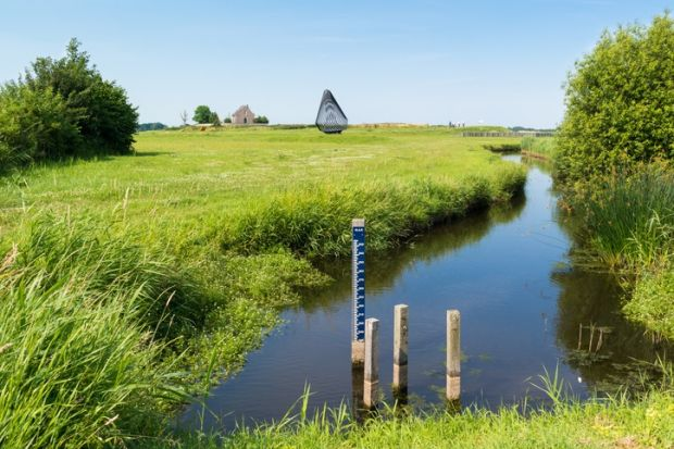 A water level gauge, Netherlands