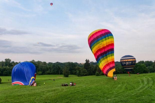hot air balloons deflated
