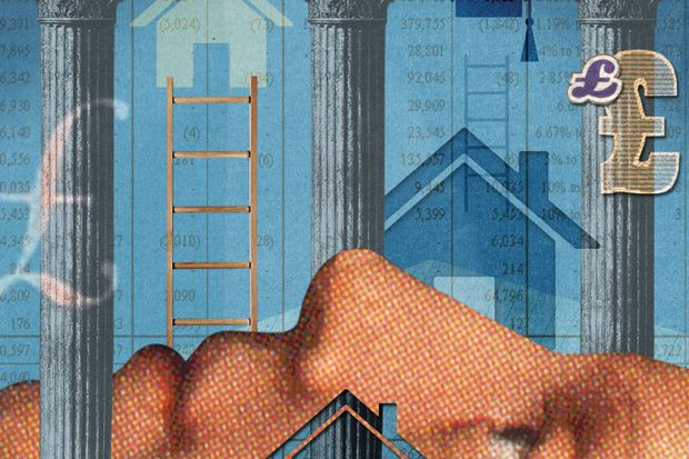 Illustration of housing ladder