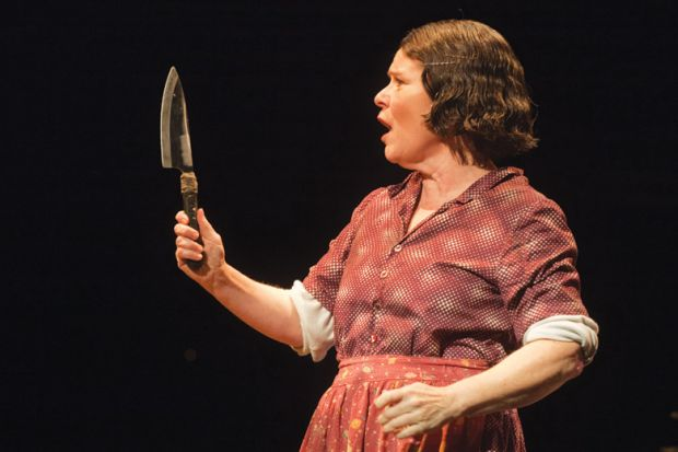 Imelda Staunton as Mrs Lovett, Sweeney Todd, Adelphi Theatre, London