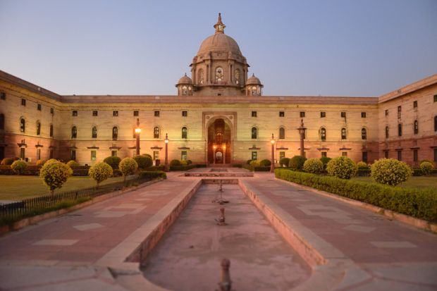 Indian parliment in New Delhi