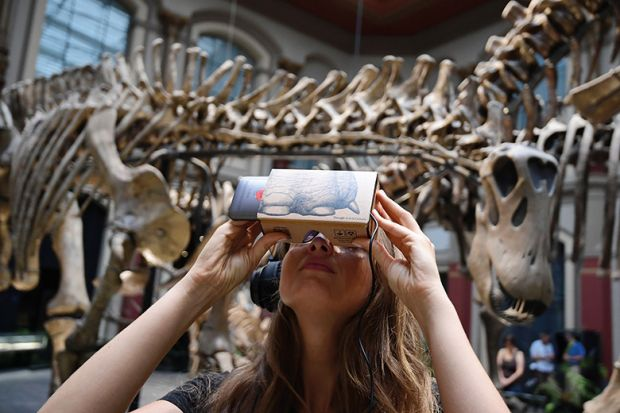 Interactive app at natural history museum