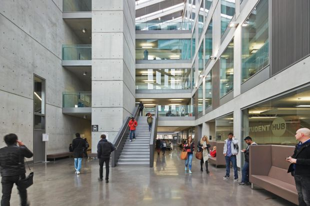 Interior of Manchester Metropolitan University (MMU) Business School
