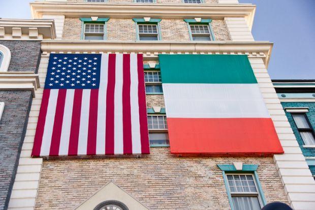 Irish and US flags