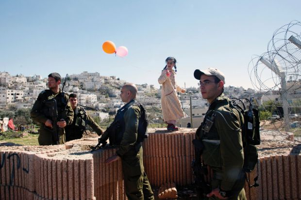 Israeli soldiers at the West Bank