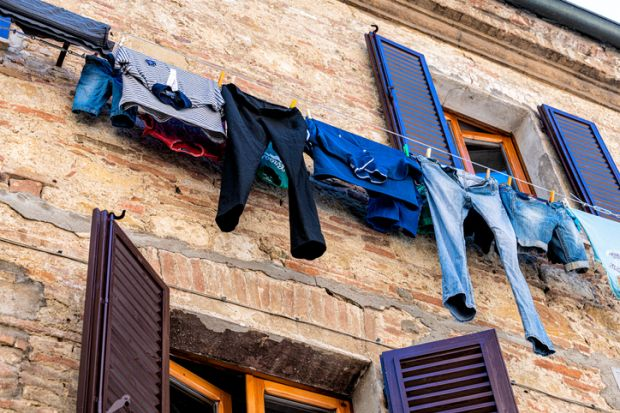 Hung out to dry washing