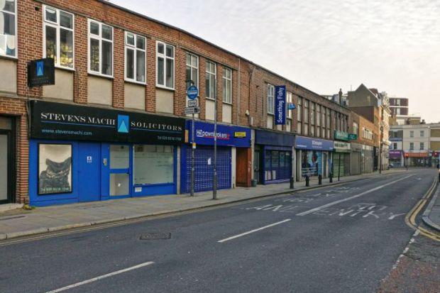 Closed high street shops