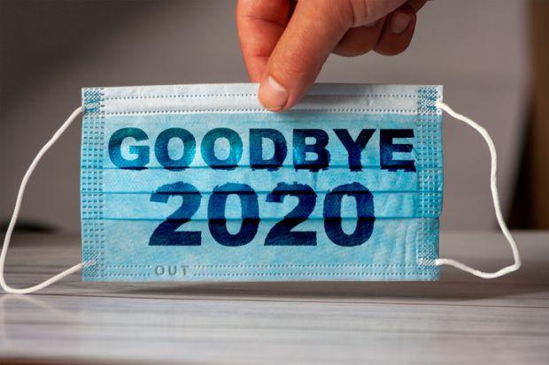 Goodbye 2020 coronavirus mask