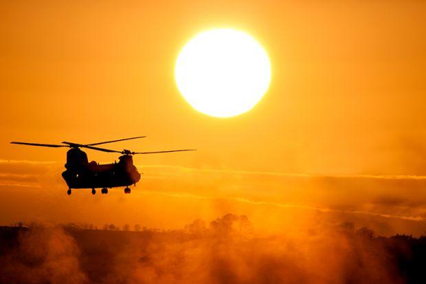 Chinook at sunset