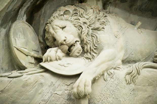 Dying lion