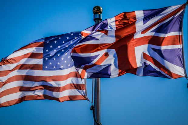 US, UK flags