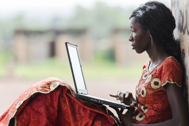 An African student
