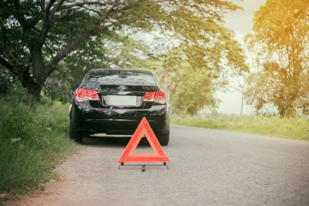 Broken down, ineffective, broken, not working, car