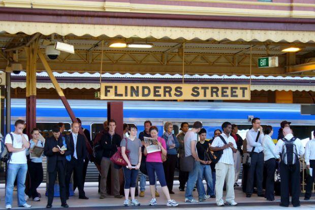 Flinders Street railway station in Melbourne, Australia