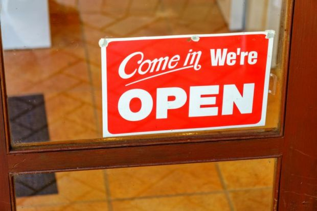 open access welcome sign