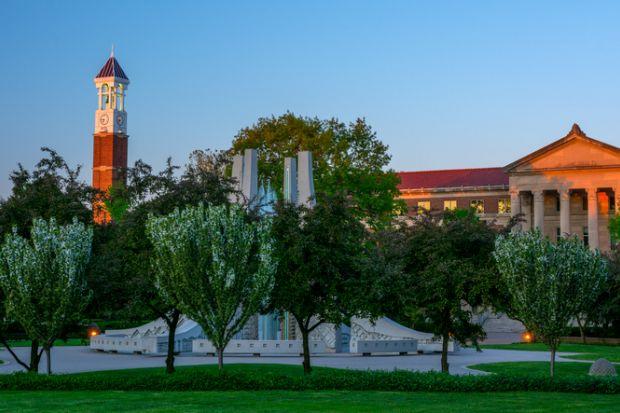 Purdue University, sunset