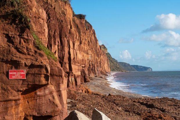 dangerous cliffs erosion