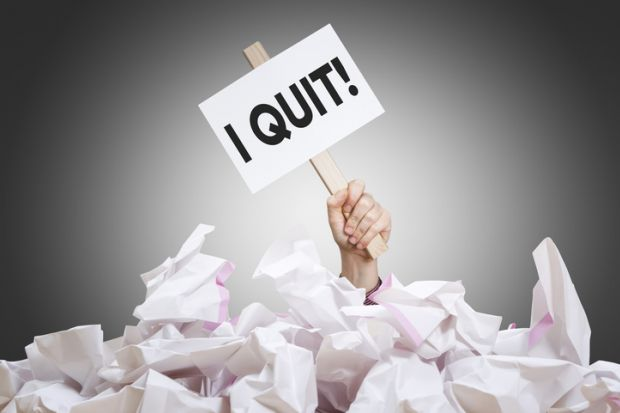 quit resign give up