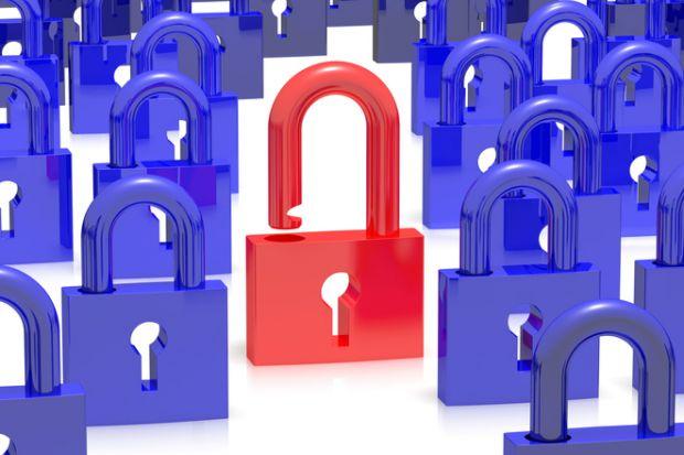 open access locked up padlock