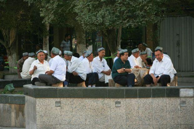 Outside Xinjiang mosque Uighur