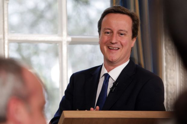David Cameron smiling