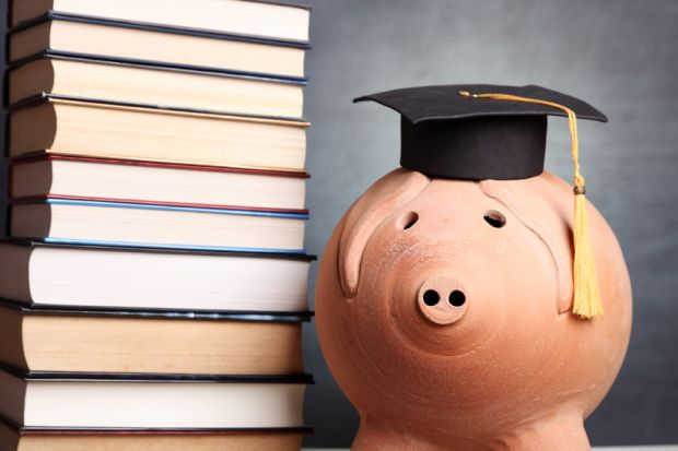 Student debt piggy bank