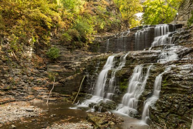 Cascadilla Gorge Waterfalls at Cornell University Plantations