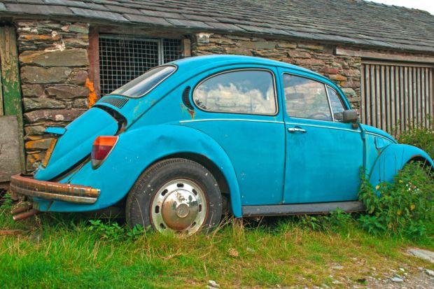 Abandoned Volkswagen Beetle
