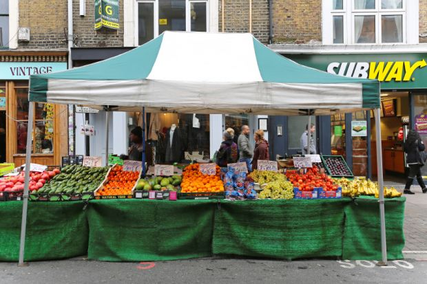 Market stall in Brick Lane, London