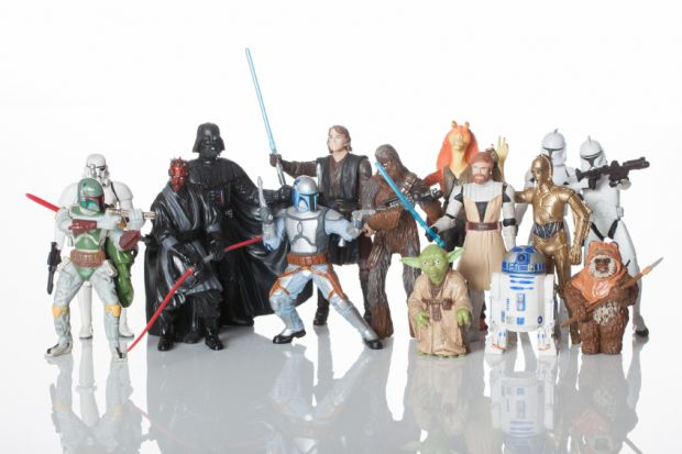 Various figures from Star Wars