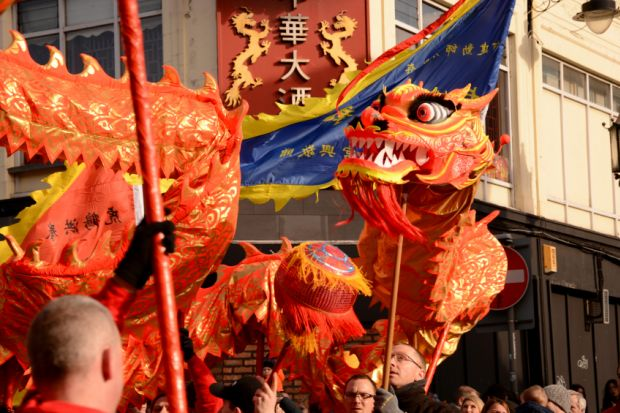 Chinese New Year celebrations in Liverpool, February 2016