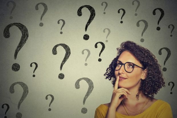 question marks PhD study